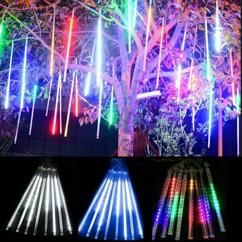 Lluvia de meteoritos Falling Star Rain Drop Icicle Snow Fall LED String XMAS ES